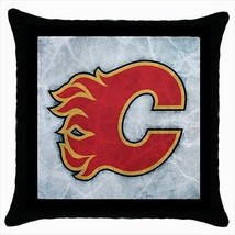 Calgary Flames Throw Pillow Case - NHL Hockey - $16.44