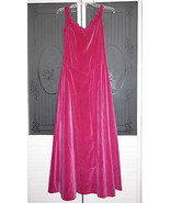 Vintage 40s 50s Fuschia Pink Velvet Ball Gown Formal Evening Gown Swing ... - $225.00
