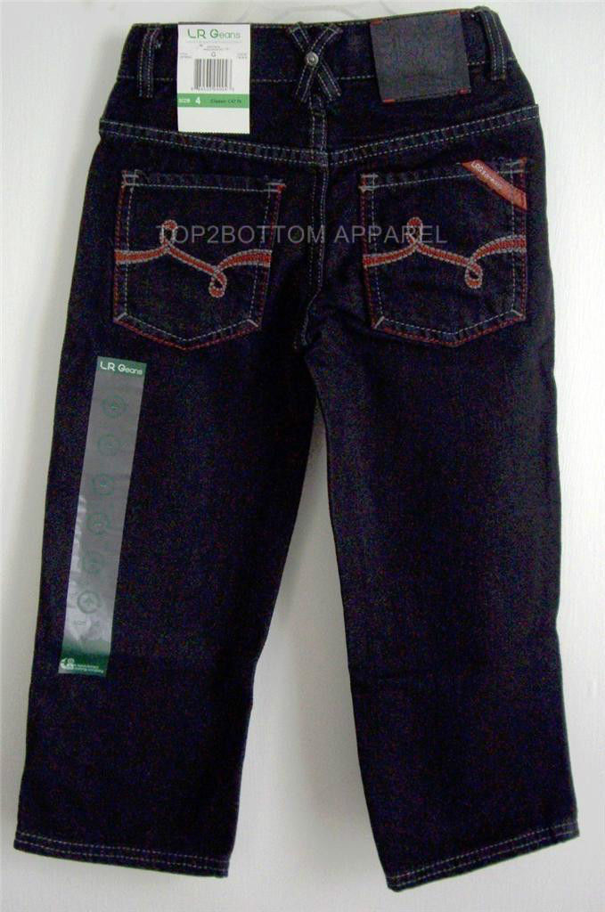 LRG LRGeans Boys Black Size 4 Jeans Elastic Waistband 5 pocket LRG logo NWT image 2