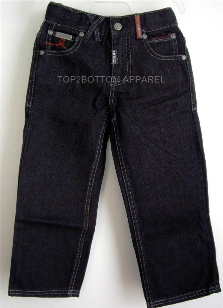 LRG LRGeans Boys Black Size 4 Jeans Elastic Waistband 5 pocket LRG logo NWT image 3