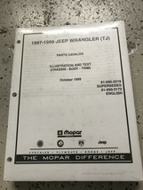 1997 1998 1999 Jeep Wrangler Parts Catalog Manual OEM New - $49.45