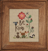 Be Kind cross stitch chart Heart in Hand - $5.40