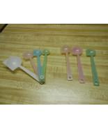 tupperware measuring spoons older style pastel colors vintage tupperware 7 spoon - $18.98
