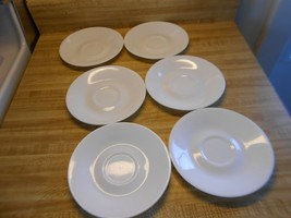 Lot of discontinued corelle saucers winter frost white pure milk white s... - $21.56