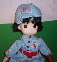 "Precious Moments Doll 16"" LITTLE CASEY Baseball Catcher Cloth & Vinyl Boy - $16.95"