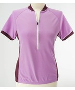 Hind L Large Cycling 1/2 Zip Jersey Purple - $19.94