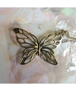 Butterfly Pendant Necklace Bronze Plated NIP, M... - $10.00