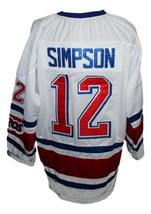 Tom Simpson #12 Toronto Toros Retro Hockey Jersey New White Any Size image 2