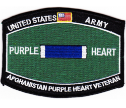 "4.5"" Army Afghanistan Purple Heart Veteran Mos Embroidered Patch - $23.74"