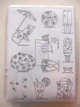 Sparkling Summer   Stampin' Up!   2004 Retired Set Of 11   Unmounted - $14.65