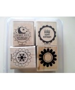 STAMPIN UP - rubber stamp - SO MANY SCALLOPS - SCALLOP FLOWER BABY BIRTH... - $7.79
