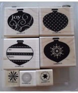 Stampin' Up! RETIRED Wood Mount Mounted Stamp Set DELIGHTFUL DECORATIONS... - $29.35