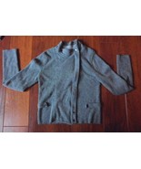 Ann Taylor Loft  Mock Turtleneck Wool Blend  zippered front SIZE SMALL S... - $22.49