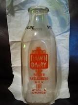 Vintage Dawn Dairy Quart Milk  Bottle Better Pa... - $19.80