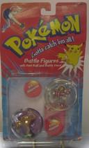 Pokemon Battle Figures 1998 New Pokeball Discs Hitmonchan & Hitmonlee  Free Ship - $50.00