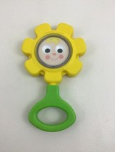 Fisher Price Flower Rattle Baby Toddler Toy #424 Round Handle Vintage 1973 - $12.42