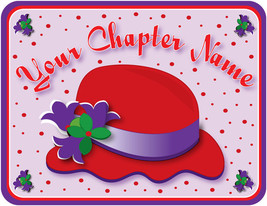 Red Hat Chapter Name (With Your Chapter) Longsleeve Purple T Shirt 2 X  - $31.67