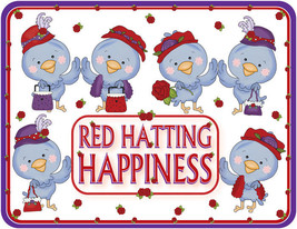 4 X Purple T Shirt Red Hat Blue Birds Of Happiness For Red Hat Ladies Of Society - $26.72