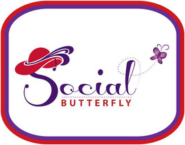 2 X Purple T Shirt Social Butterfly A Rhs Design For Red Hat Ladies Of Society - $28.70