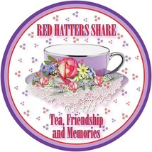 2 X Red T Shirt Red Hatters Share Tea Friendship & Memories 4 Ladies Of Society - $21.74
