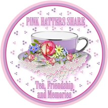 2 X Pink Tee Shirt Pinkk Hatters Share Tea & Friendship For Ladies Of Society - $21.52