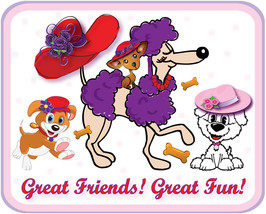 4 X Lavender T Shirt Custompuppy Dog Design For Pink Hat Ladies Of Society  - $32.66
