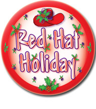 12 PURSE MIRRORS & ORGANZA BAGS RED HAT HOLIDAY FOR RED HAT LADIES OF SO... - $45.53