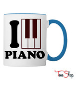 I Love Piano Logo Coffee & Tea Mug - £18.90 GBP