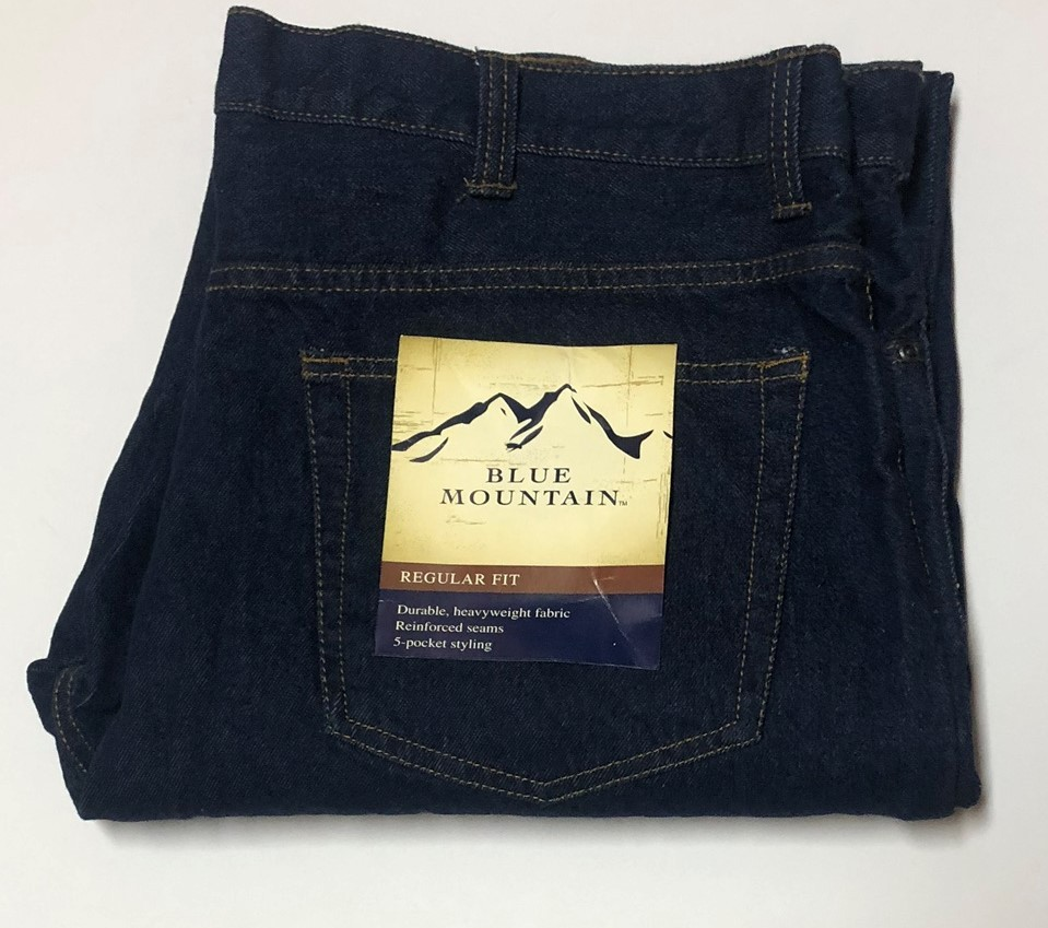 Blue Mountain Jeans Regular Fit 5 Pocket Heavyweight Sz 40 x 34 image 2
