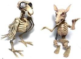 (2) Plastic Animal Skeletons Rat and Bird Halloween Decorative Bones 1 o... - £8.58 GBP