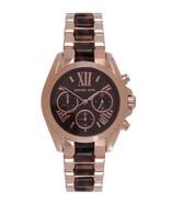 Michael Kors MK5944 Ladies Rose Gold Mini Bradshaw Brown Dial Watch - $160.01