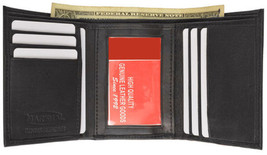 BLACK MEN'S SOFT LEATHER ID CREDIT CARD ID MONEY HOLDER PLAIN TRIFOLD WA... - $5.53