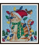 Christmas Kitty cross stitch chart by Ladybug Designs  - $9.00