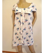 Nwt REKO  LF Stores  Cotton Fashion  Retr0 Dress Top S Small Floral Whit... - $32.62