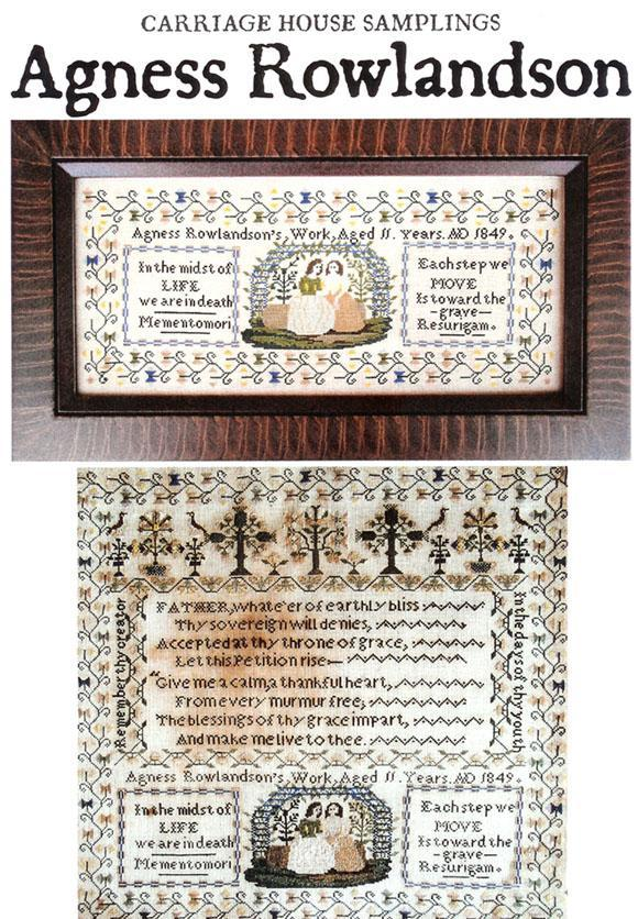 Agness Rowlandson cross stitch chart Carriage House Samplings - $16.20
