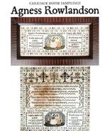 Agness Rowlandson cross stitch chart Carriage House Samplings - $16.20