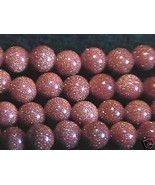 4mm Goldstone Round Beads (90 - 100 per strand) Sparkly! - $3.22