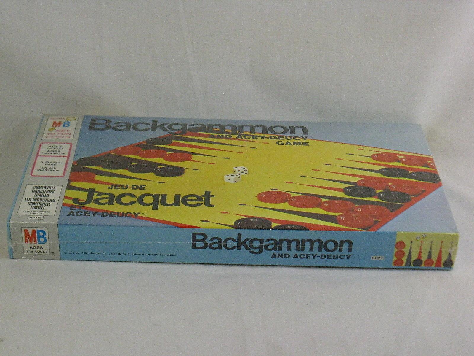Backgammon Board Game 1973 Milton Bradley New Sealed in Plastic Bilingual