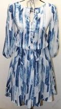 Vince Camuto Dress Fully Lined Size 4 Summer Dress Geometric Print Hot Blue - $41.71