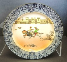 "Royal Doulton Bursleim ""Falconry"" Porcelain 8 1/2"" Plate - No Crazing! - $94.99"