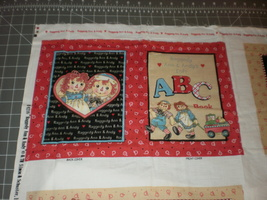 Daisy Kingdom Raggedy Ann Andy ABC Panel Soft Book Fabric Panel  - $21.95