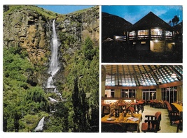 Lesotho Hotel Africa Molimo-Nthuse Lodge Waterfall Multiview Postcard 4X6 - $4.99