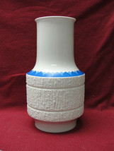 "Thomas Rosenthal Porcelain China - Cobalt Edge On Arcta Pattern -11"" Flower Vase - $72.95"