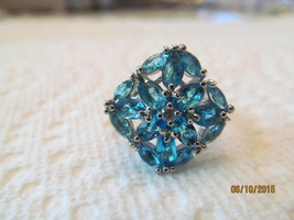 . LONDON BLUE TOPAZ  RING, SIZE 6.5, NEW - £11.11 GBP