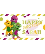 Barney & Friends V2 -Personalized- Custom Vinyl Birthday Party Banner De... - $34.95