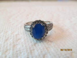 NEW SAPPHIRE RING, SIZE 7 1/4.  MARKED 925, NEW. - £8.89 GBP