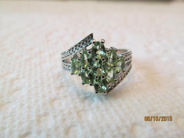 MINT GREEN AMETHYST, SIZE 7 1/4, NEW. - £8.89 GBP