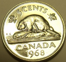 Proof Canada 1968 5 Cents~Beaver Nickel~We Have Canadian Coins~Free Ship... - $4.60