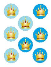 Scallop Circles Crown24-Download-ClipArt-ArtClip-Digital Tags-Digital - $2.00