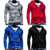 New Top Men Slim Pullover Hoodie Warm Hooded Sweatshirt Coat Sweater Out... - $51.00